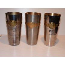 Set tří pohárů s portrétem císaře Wilhelma a Franz Josefa