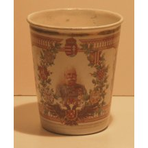Cup with portrait of Franz Joseph and crests