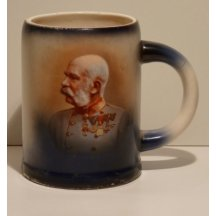Keramický půllitr s portrétem Franz Josefa