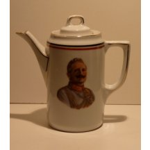 Porcelain kettle with cap - portrait of Wilhelm II.