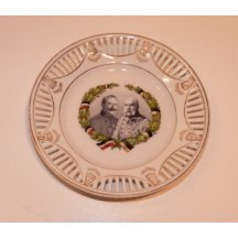 Decorative plate with images of Franz Joseph I. and Wilhelm