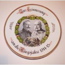 Plate with portrait of Franz Joseph I. and Wilhelm II.