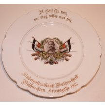 Plate with image of Hindenburg