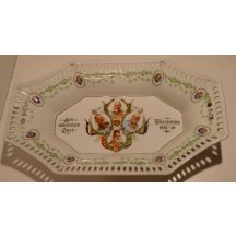 Decorativ dish with portraits of four european monarchs 1914 - 16