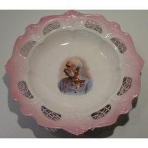 Pink plate with portrait of Franz Josef