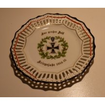 Decorative plate with war cross and oak circle (1914 - 15)