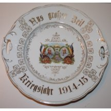 Decorative plate with portraits of Franz Joseph I. and Wilhelm II.