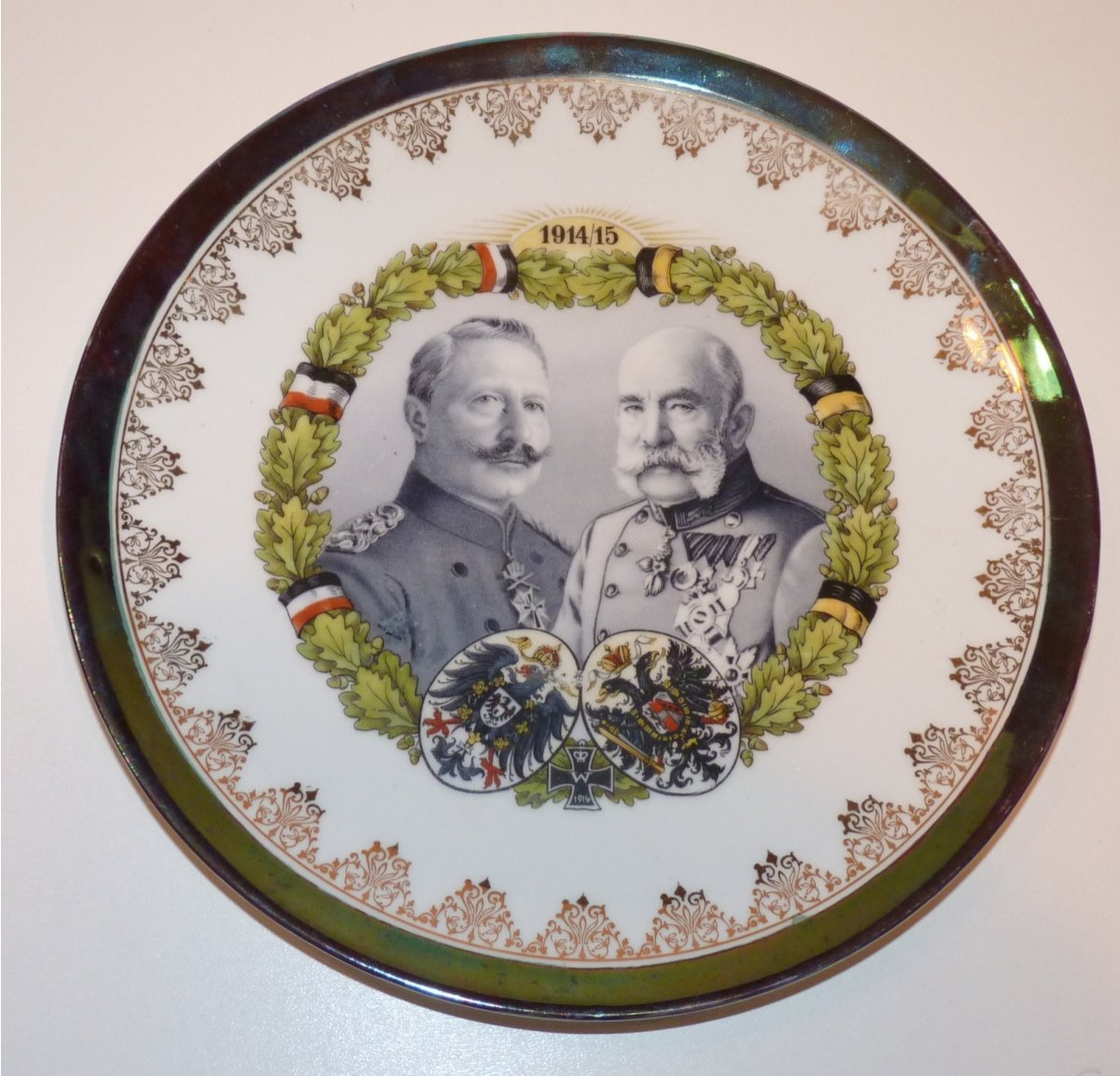 Plate with portraits of Franz Joseph I. and Wilhelm II.
