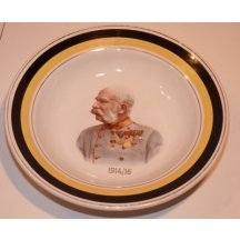Plate with portrait of Franz Joseph I. - 1914 - 1916
