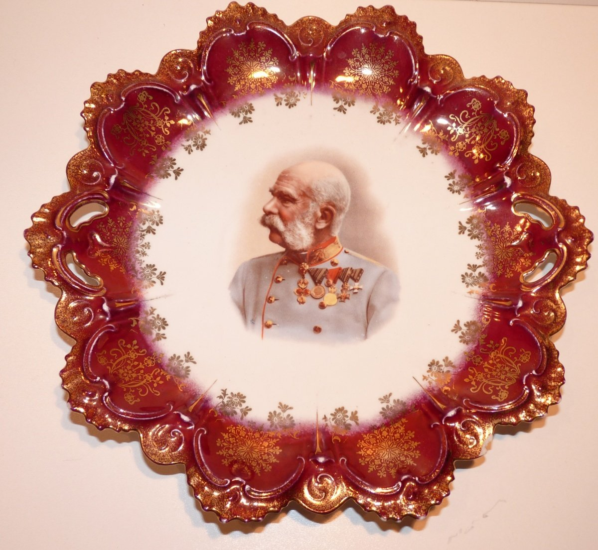 Plate with portrait of Franz Joseph