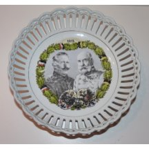 Plate with portrait of Franz Joseph I. and Wilhelm II. - 1914