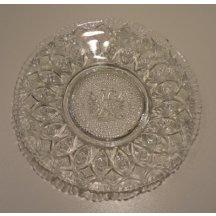 Skleněný talíř se znakem císaře Franz Josefa I.