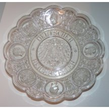Glass plate in honor of German empire