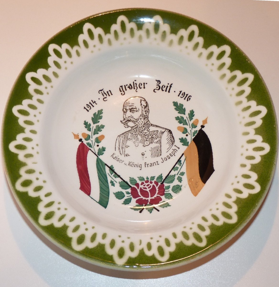 Plate in honor of Franz Joseph I. (1914 - 1916)