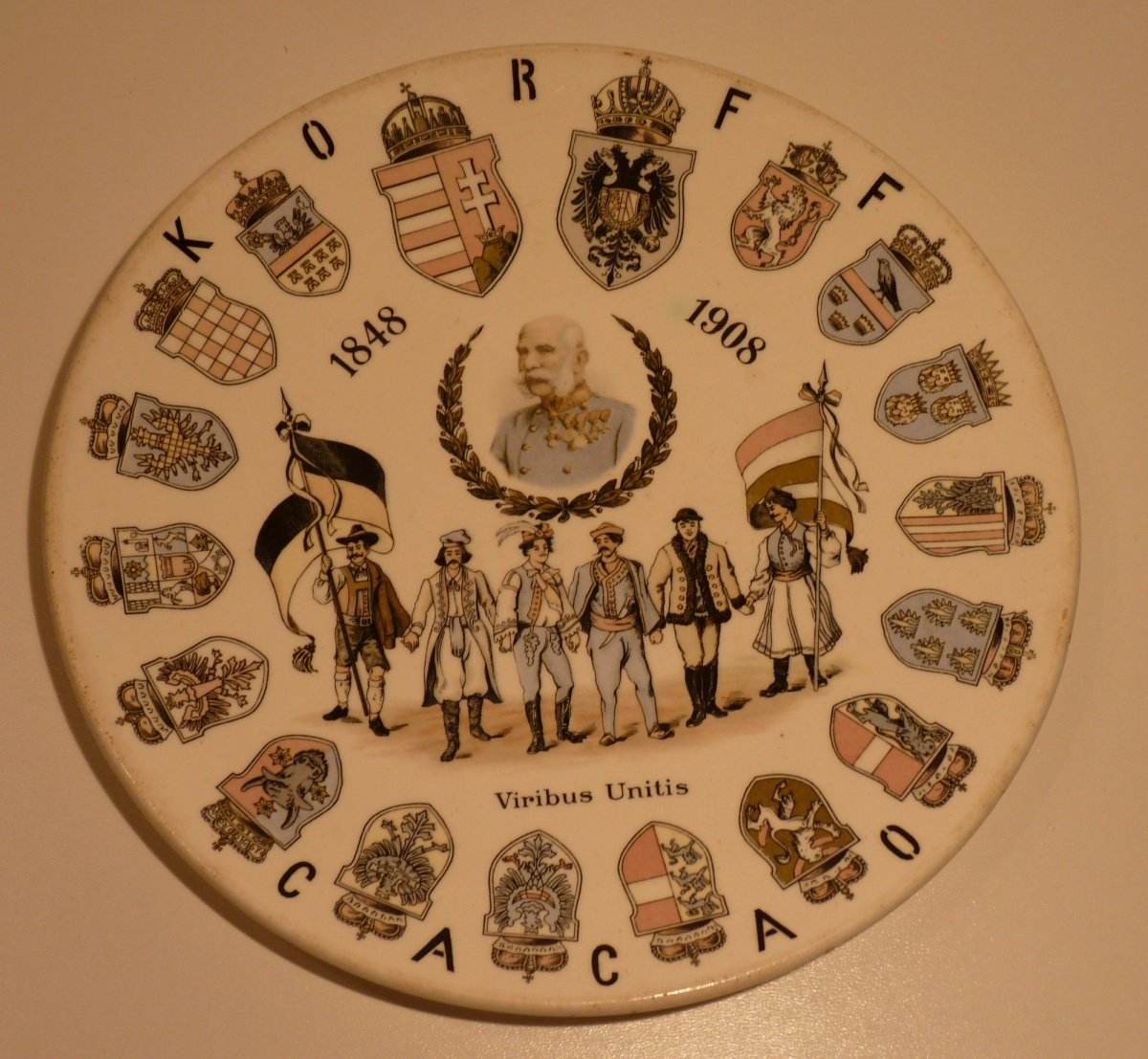 Plate to 60th anniversary of government Franz Joseph I.