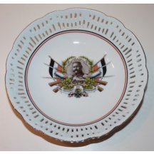 Decorative plate - portrait - Hindeburg 1914
