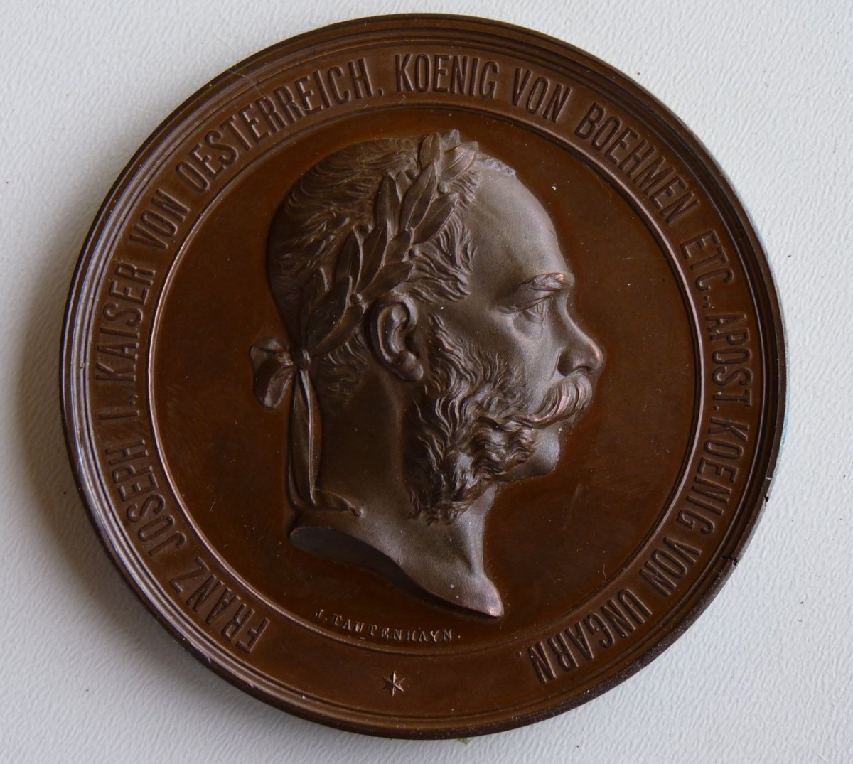 Medal of Franz Joseph, exhibition in Vienna in 1873 on cooperation topic
