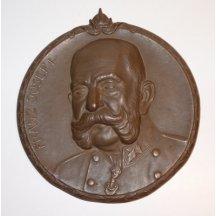 Medaile s Franz Josefem I. a císařskou korunou