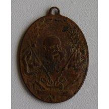 Bronzová medaile s císařem