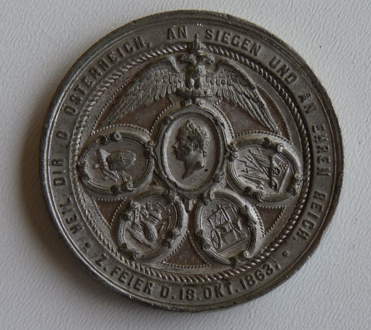 Imposing medal with Franz Joseph from 1863 - Vienna