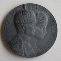 Medaile s Carl Franz Josefem a Zitou