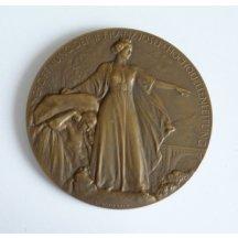 Bronzová medaile Franz Josef a starosta Vídně - Luger , výstava Wien 1910