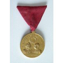 Pozlacená medaile s portréty FJI. a Wilhelma II.