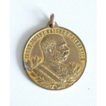 Zlatá medaile uniformovaného císaře, r.1898