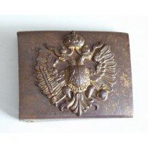 Opasková přezka z bronzu s rakouskou orlicí a korunou