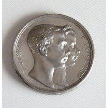 Franz Joseph a Elisabeth, společně na stříbrné medaili