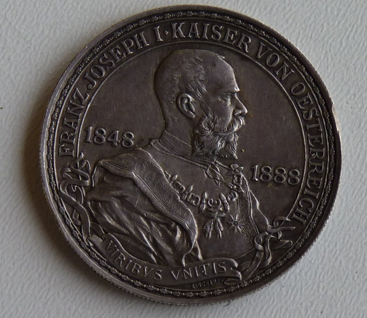 Medal of emperor Franz Joseph for 40 years of government