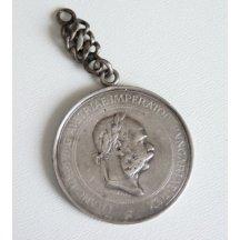 Stříbrná medaile s řetízkem - Státní cena za chov koní