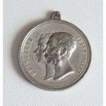 Medaile císařských manželů Elisabeth a Františka Josefa