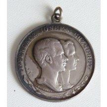 Medaile s císařem Františkem Josefem a Elisabeth , erb