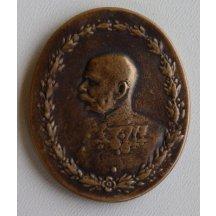Medaile s Franz Josefem - zkusmý odlitek