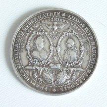 Stříbrná medaile - Marie Terezie a její manžel