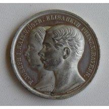 Medaile s Franz Josefem a císařovnou Elisabeth