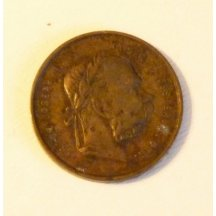 Bronzová medaile mladého a starého císaře Františka Josefa