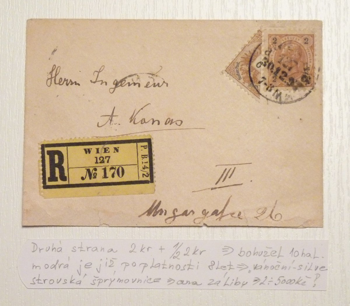 Dopis frankovaný smíšenou emisí