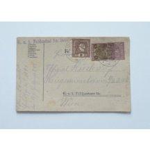 Korespondenční lístek, frankovaný ruskou kolkovou známkou