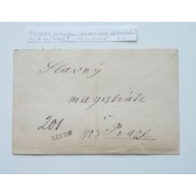 Dopis frankovaný 3krát 2 Kr a jednou 5 Kr