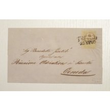 Letter valued with 15 cents, stamp Treviso