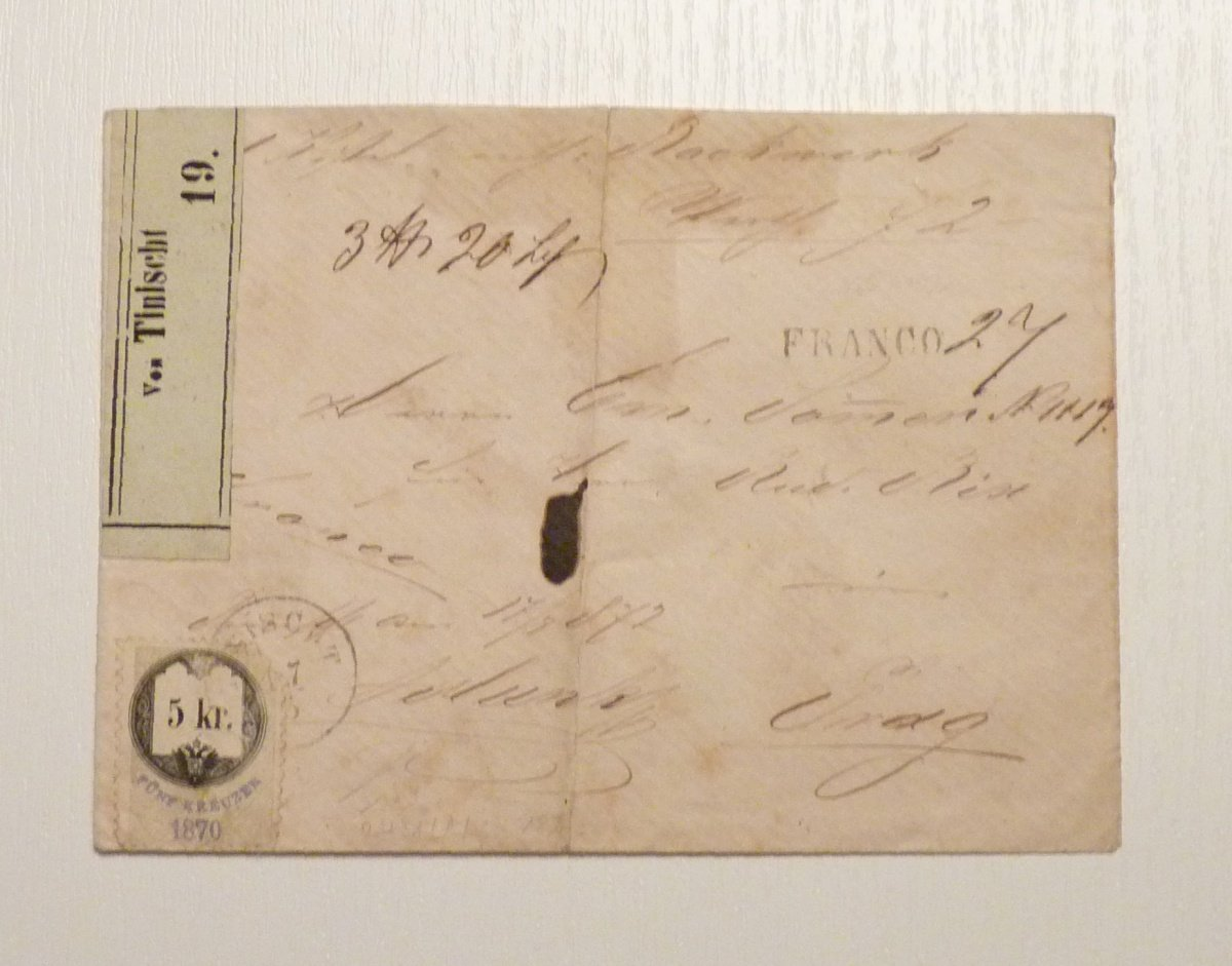 Railway letter valued with 5Kr fee stamp