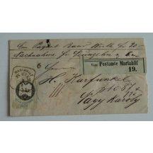 Nádražní dopis 5 Kr. kolek, razítko Mariahilf- Vídeň