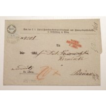 Letter stamped with 15 Kr. fee stamp