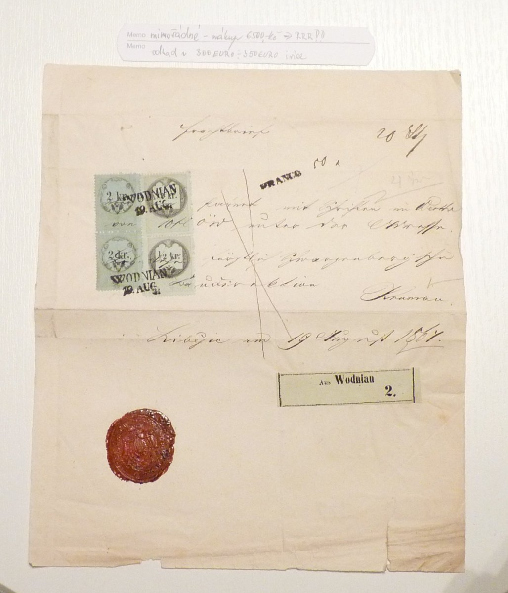 Extra ordinary railway letter with interesting valuation