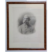 Franz Joseph painting in brown frame