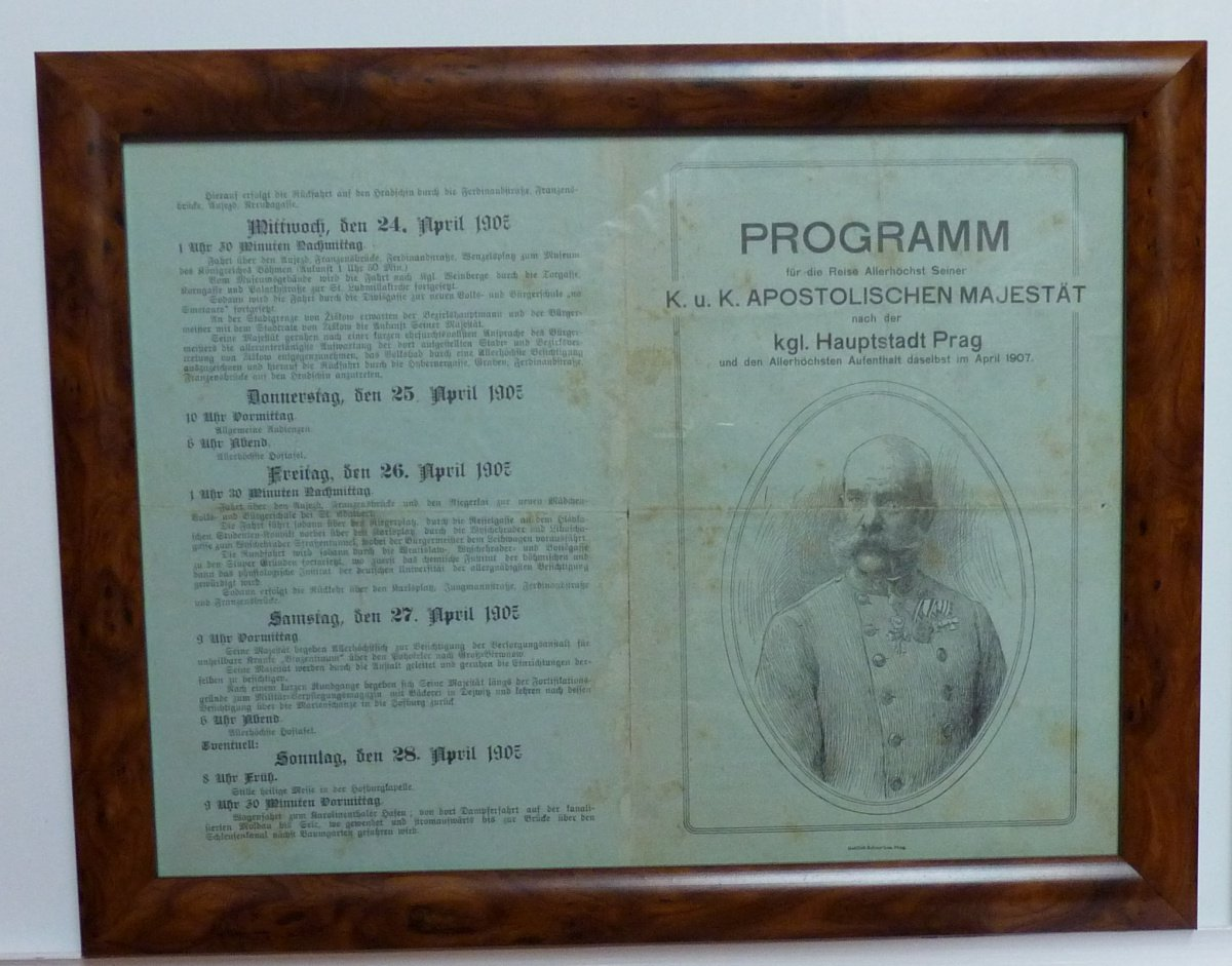 Cultural program with picture of Franz Joseph
