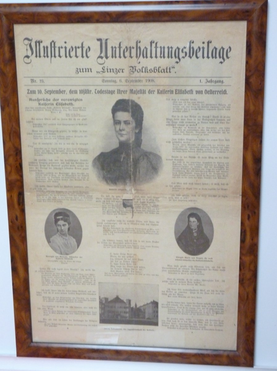 Sheet of newspaper, issued on the 10th anniversary of Franz Joseph's death