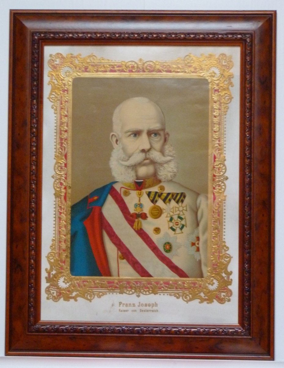 Colour painting of emperor Franz Joseph I.